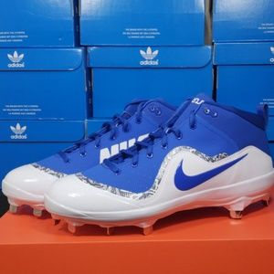 Nike  Air Trout 4 Pro Blue Baseball Cleat Sz 10-12